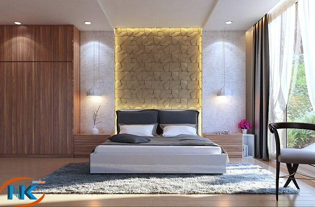 Mẫu phòng ngủ đẹp tinh tế với màu sắc hài hòa