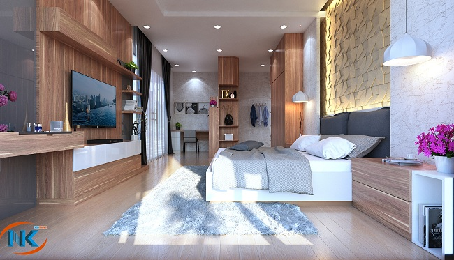 Phòng ngủ hiện đại với đầy đủ tiện nghi