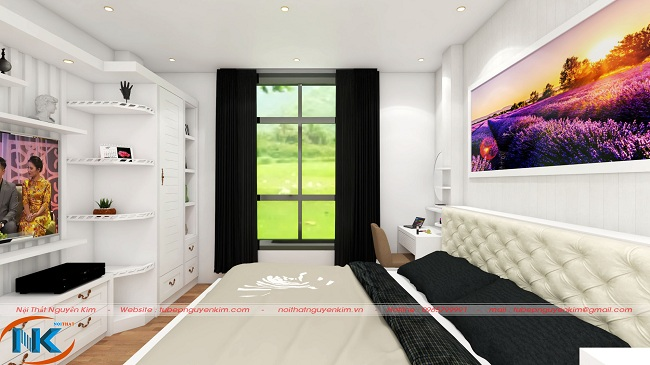 Phòng ngủ đẹp hài hòa với ánh sáng thiên nhiên
