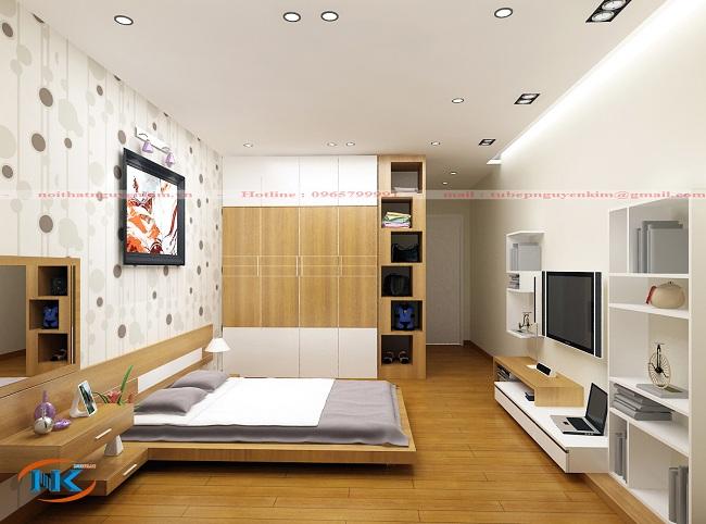 Thiết kế phòng ngủ hiện đại, đa chức năng