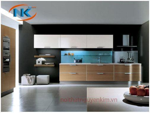 Mẫu tủ bếp Laminate cho không gian bếp hiện đại, đa dạng màu sắc