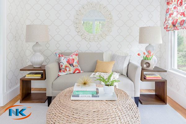 Gam màu tươi sáng nếu biết kết hợp cho bạn một phòng khách tuyệt vời như thế này
