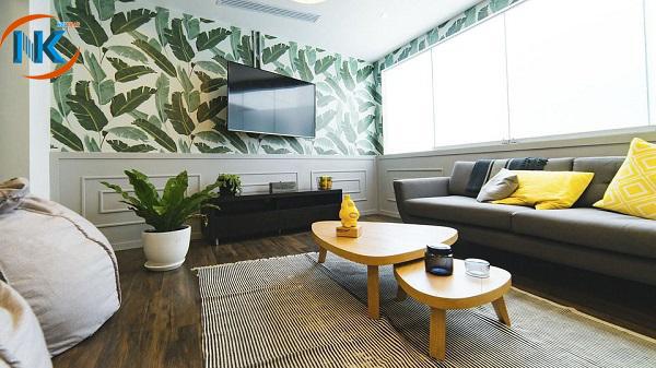 Trang trí thêm cho phòng khách bằng cây xanh