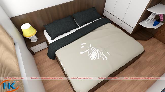 Phòng ngủ bố mẹ đơn giản, nhẹ nhàng với sự kết hợp màu sắc trang nhã và lôi cuốn