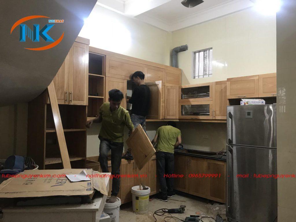 Tủ bếp nhà cô yên đang thi công