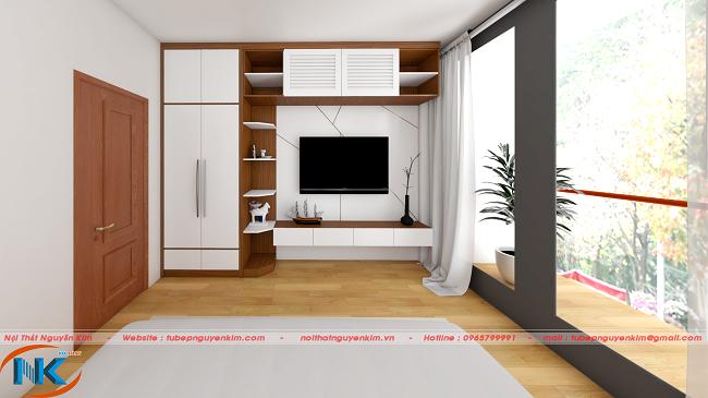 Mẫu thiết kế phòng ngủ con trai khá ấn tượng tạo nên sự khác biệt riêng