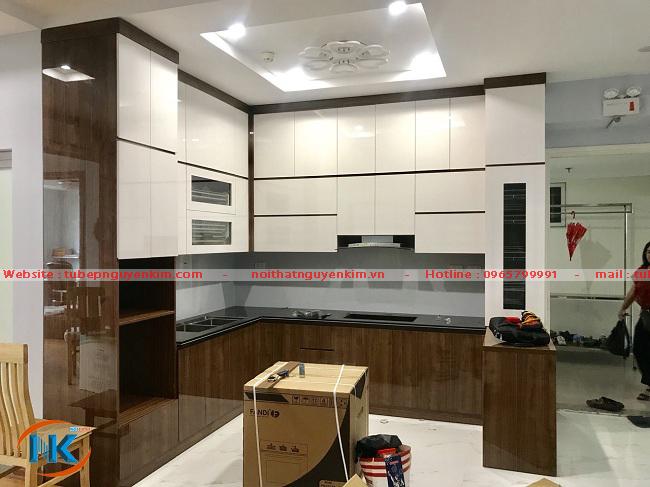 Tủ bếp đẹp, 100% giống bản thiết kế