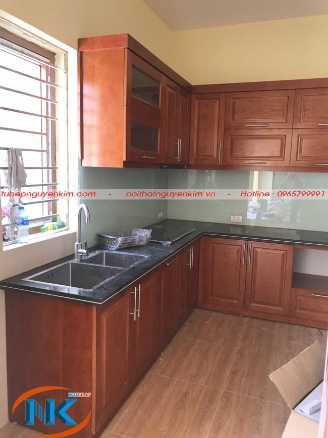Tủ bếp thi công xong và bàn giao cho chủ nhà