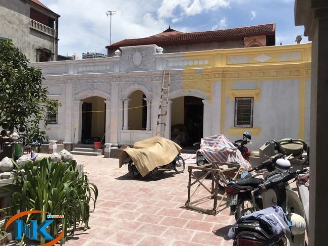 Ngôi nhà mang phong cách cổ của gia đình anh Hoàng