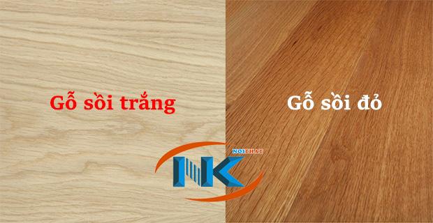 Màu sắc tự nhiên của gỗ sồi nga và gỗ sồi mỹ (gỗ sồi đỏ)