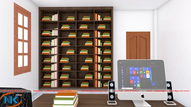 Phòng làm việc ấn tượng với màu trầm rất nhẹ nhàng, thanh tĩnh để tăng hiêu quả công việc