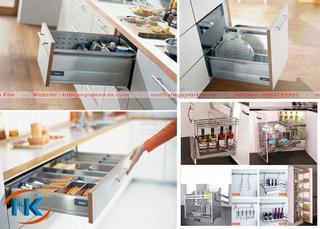 Các phụ kiện cơ bản của tủ bếp