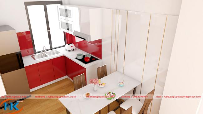 Tủ bếp acrylic vô cùng đa dạng, phong phú về màu sắc