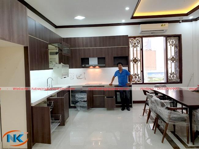 Tủ bếp khi bàn giao chuẩn bản thiết kế cho gia chủ