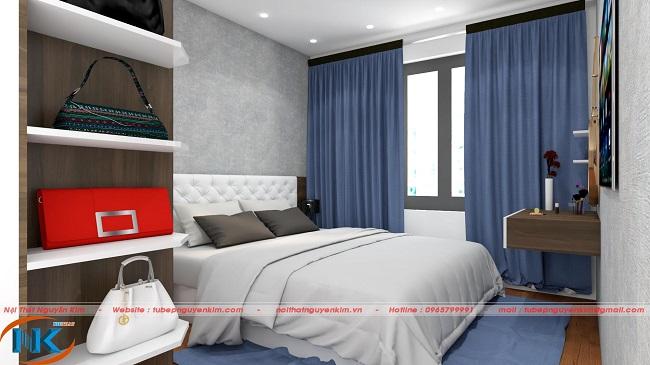 Không gian chung phòng ngủ trên thiết kế 3D