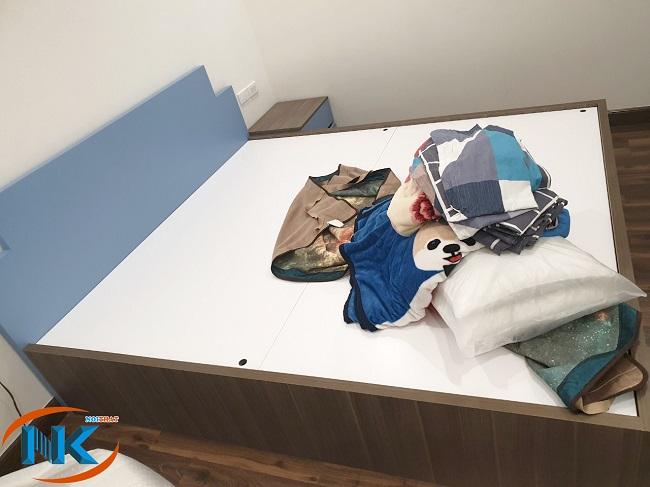 Ảnh thực tế giường ngủ sau khi thi công và bàn giao