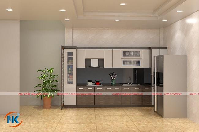 Tủ bếp acrylic an cường cao cấp, hiện đại được mọi khách hàng tin dùng, đánh giá cao