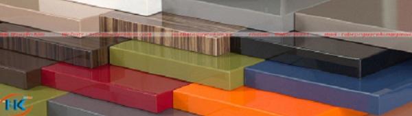 Tấm gỗ công nghiệp acrylic an cường dùng làm tủ bếp