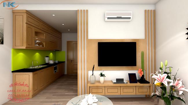 Tủ bếp chữ I kịch trần, lựa chọn tối ưu nhất tại các căn hộ chung cư