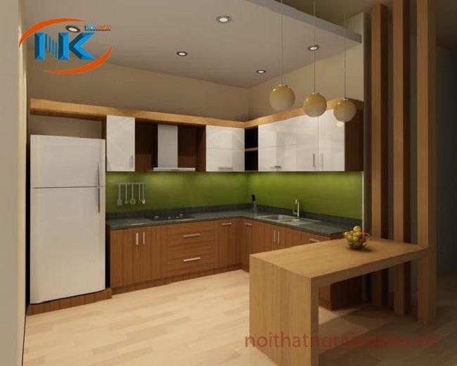 Chất liệu tủ bếp laminate an cường mang không gian hiện đại, mới mẻ cho không gian bếp