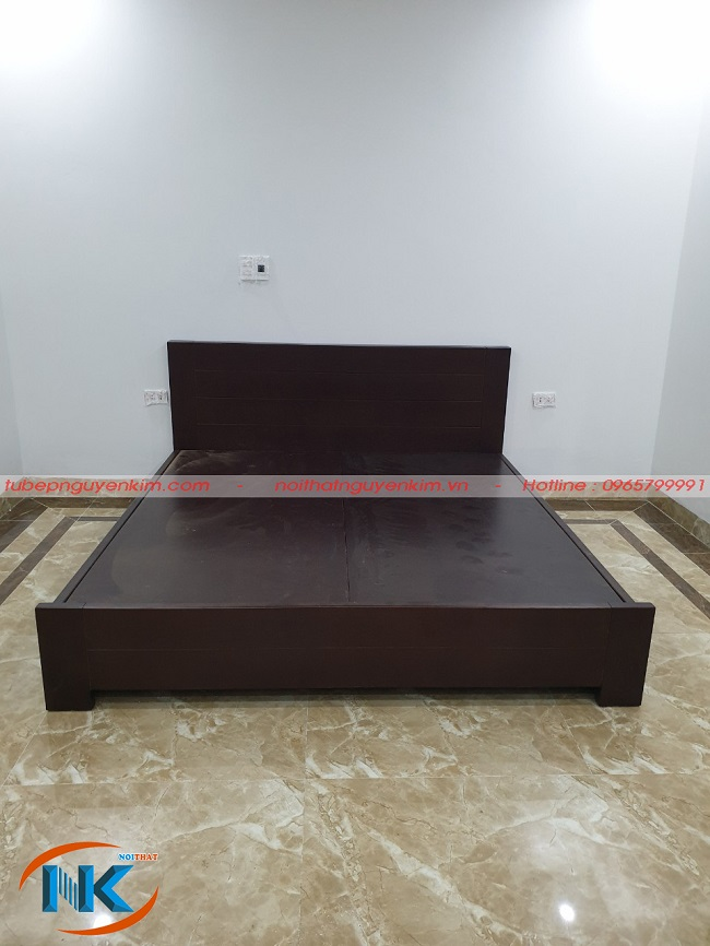 Giường ngủ bằng gỗ công nghiệp laminate