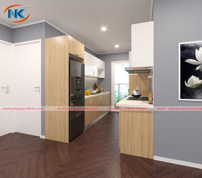 Tủ bếp thiết kế song song - giải pháp cho căn bếp nhỏ và hẹp