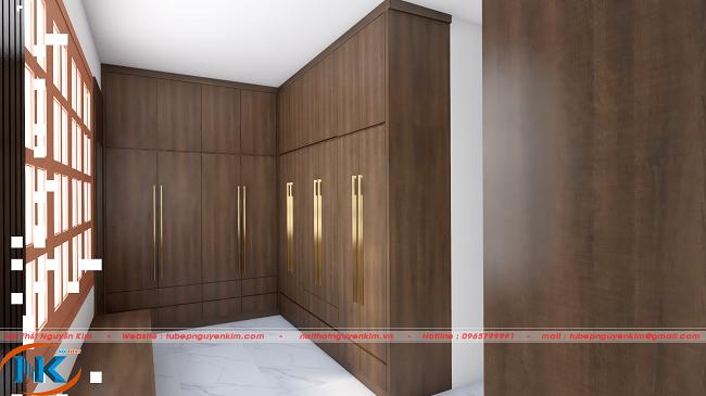 Tủ áo sử dụng chất liệu gỗ laminate an cường