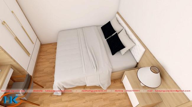 Ảnh 3D full nội thất phòng ngủ master